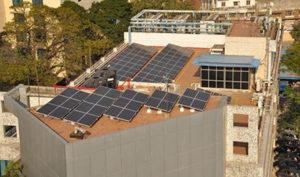 Generación de energía solar en Chennai India.