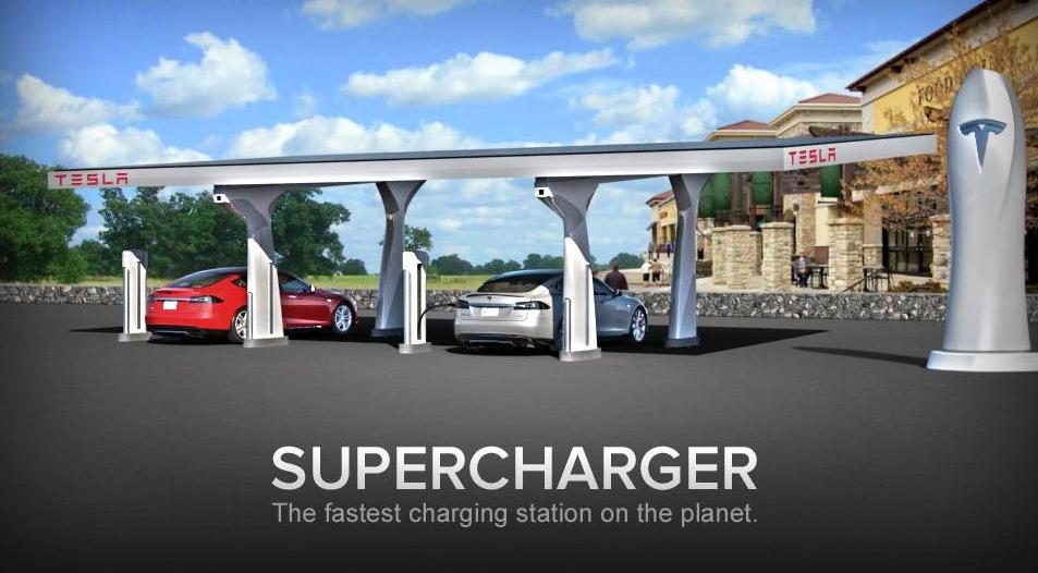 Tesla desconectará su supercargador de la red eléctrica: se suministrará de paneles solares y baterías Powerpack