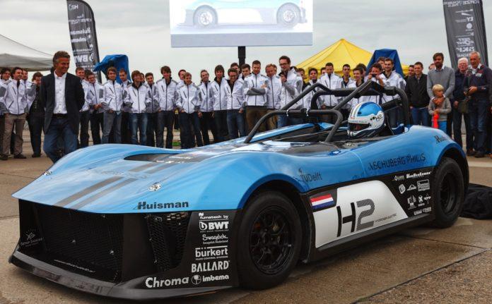 Pila de hidrógeno en auto de carreras