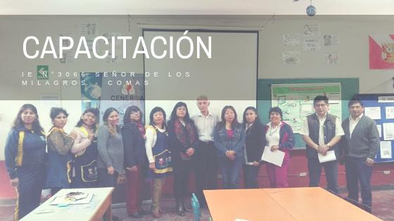 XII Capacitación a docentes en IE 3066 Señor de los Milagros