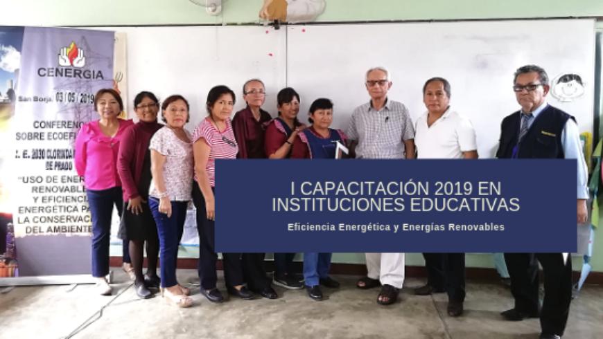 I Capacitación a docentes 2019: IE 2030 Clorinda Málaga