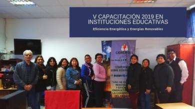 V Capacitación a docentes 2019: IE Dos de Mayo