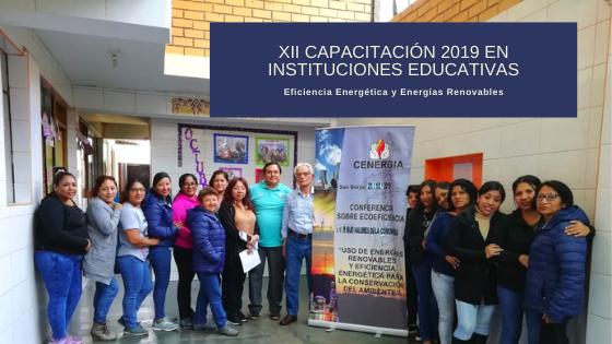 XII Capacitación a docentes 2019: I.E. Hijos Valores de la Comunidad